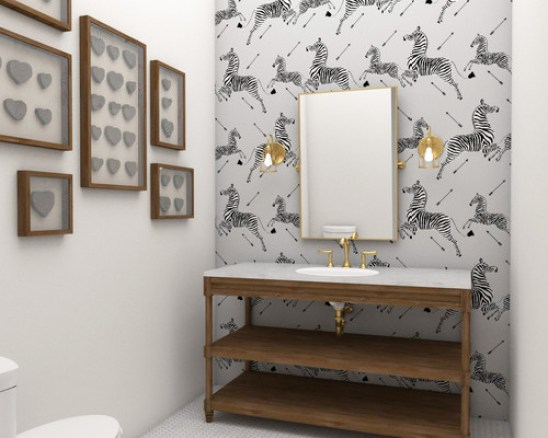 7 powder room statement wallpapers | the well appointed house blog