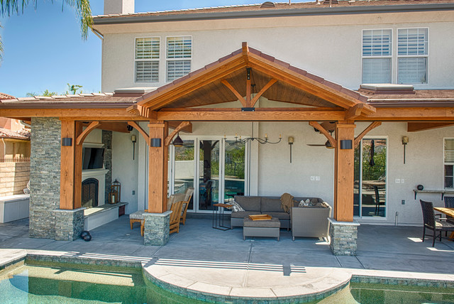 Luxury outdoor patio cover - Modern - Los Angeles - by ... on Luxury Backyard Patios id=47293