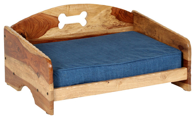Rustic Pet Bed With Orthopedic Foam Mattress Small Dog Beds