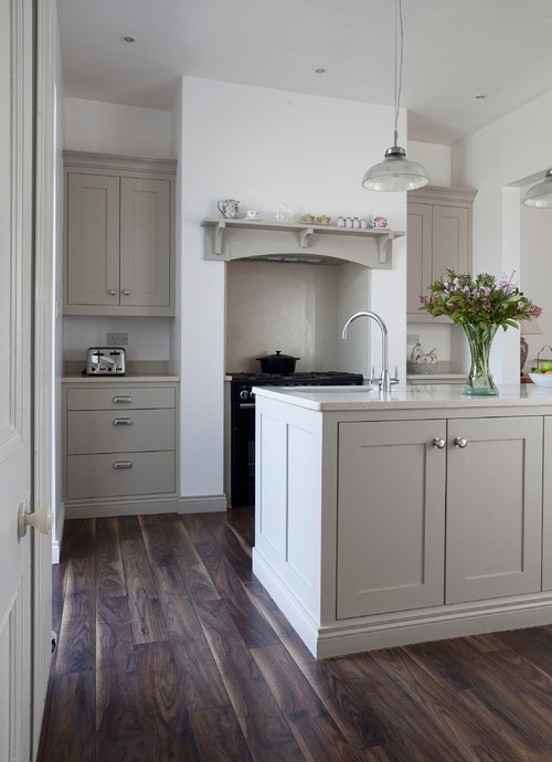 Non-White Kitchen Cabinet Paint Colors - Hardwick White - Farrow and Ball