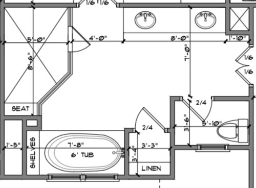 Master Bathroom Layout Dilema