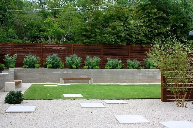 Minimalist Backyard - Modern - Landscape - Austin - by ... on Minimalist Backyard Design id=46229