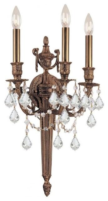 Crystorama - Crystorama Arlington 3 Light Clear Crystal ... on Victorian Wall Sconces id=43787