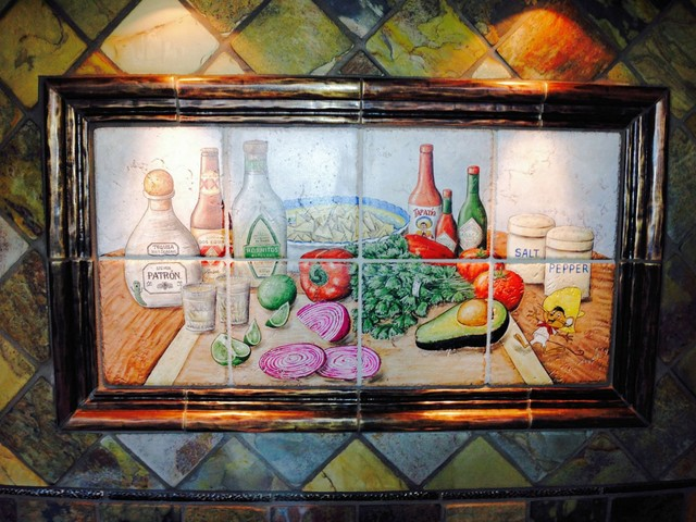 """""""Shots And Salsa Mexican Happy Hour"""" Hand Painted Tiles"""