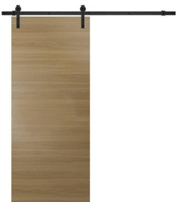 Sliding Barn Door 36 x 80 & 6.6FT Rail| Planum 0010 Honey Ash|