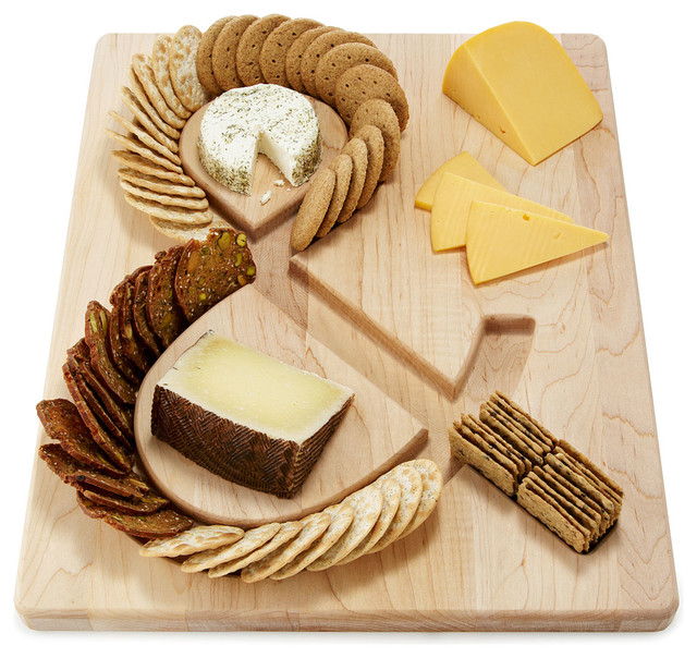 Cheese and Crackers Serving Board contemporary-serveware