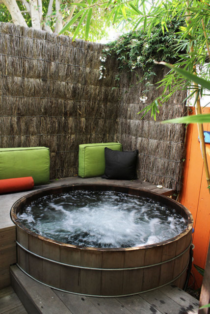 Back deck and hot tub ideas - Tropical - Patio - Los Angeles on Deck And Hot Tub Ideas  id=99676