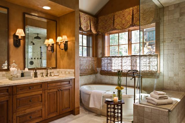 Deer Valley Retreat Traditional Bathroom Orange