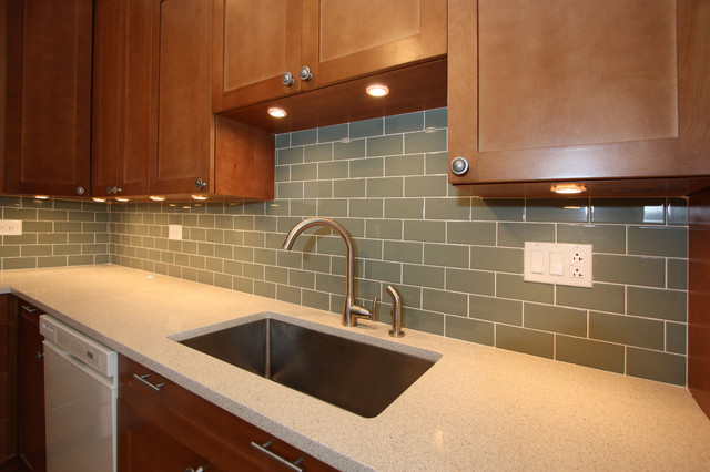 White And Cherry Wood Kitchen Remodel