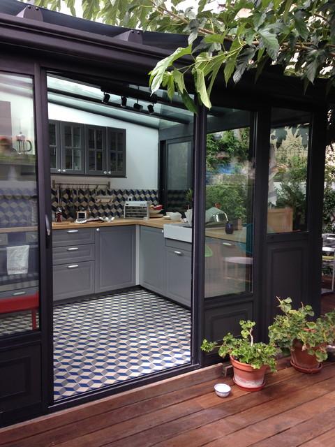 Rnovation Villa M Contemporain Vranda Et Verrire