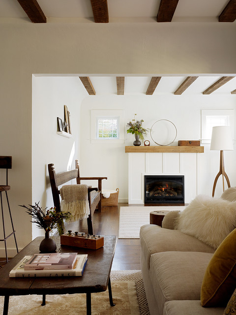 San Anselmo Living Room rustic-living-room