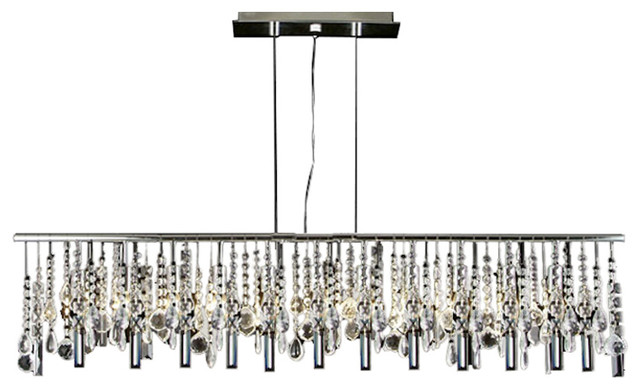 Modern Contemporary Broadway Linear Crystal Chandelier Lamp Chandeliers