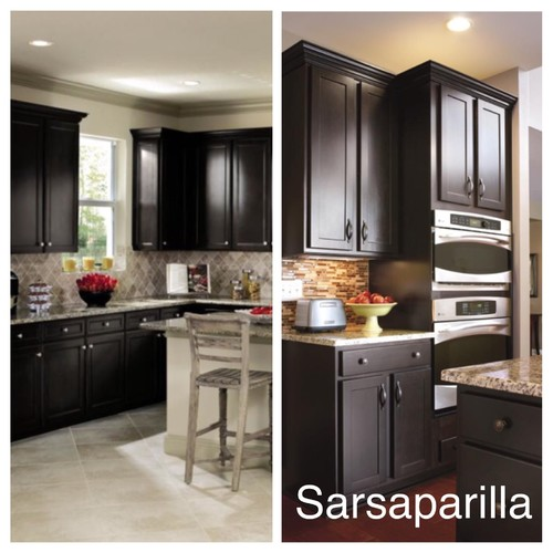 Please Help Choosing Kitchen Cabinets Sarsaparilla In Casual By Aristokraft Cabinetry Birch