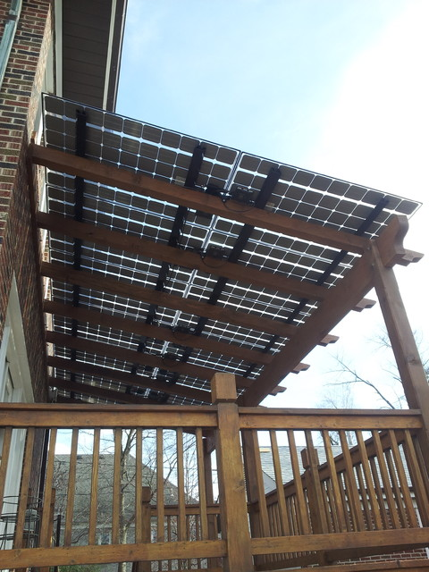 Deck Shaded By Solar Panels