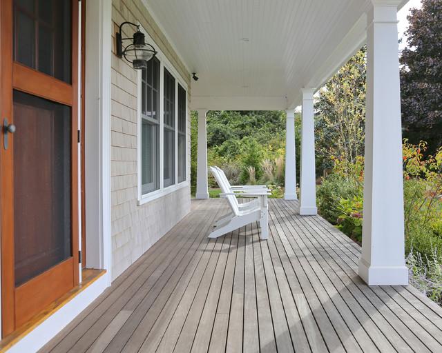 New Cape Cod Home Farmhouse Porch Boston By Encore Construction