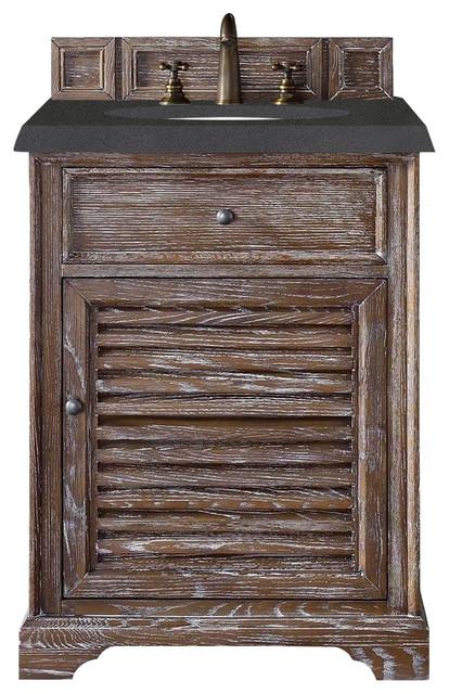 Savannah 26 Single Vanity Cabinet Driftwood Farmhouse Bathroom Vanities And Sink Consoles