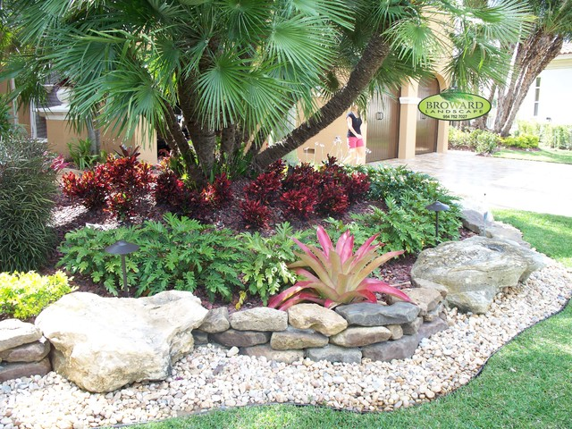 Front Yard Landscape - Tropical - Landscape - Miami - by ... on Tropical Backyard Ideas  id=52500