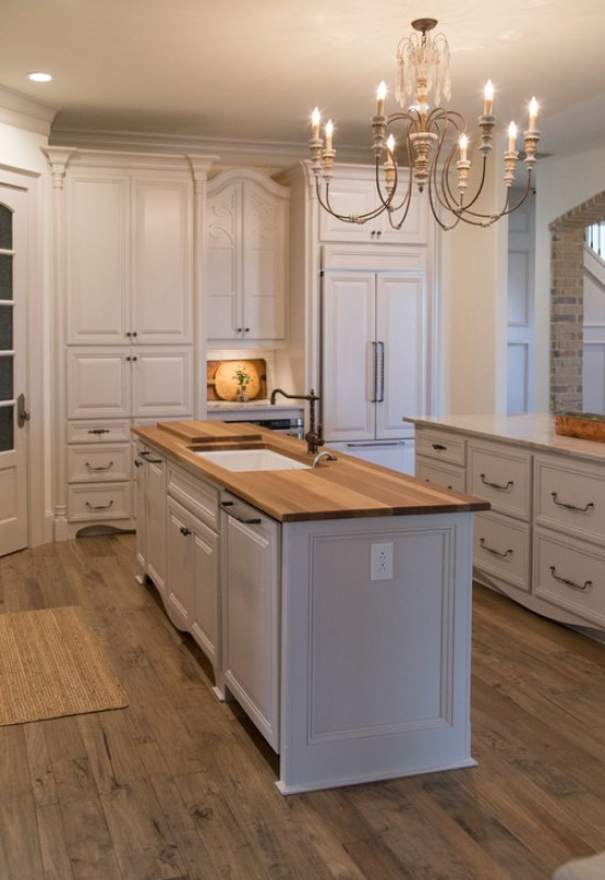country French traditional kitchen