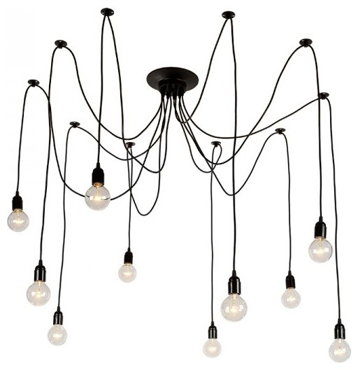 10 Light Iron Chandelier Contemporary Chandeliers