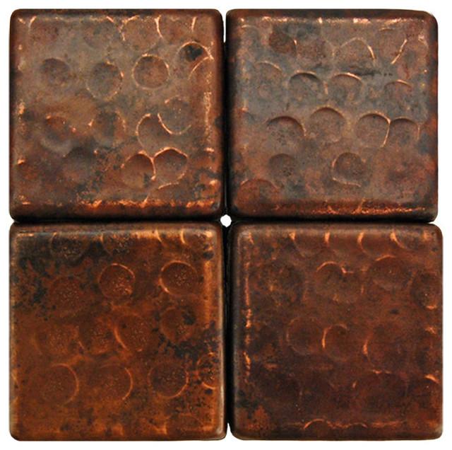 2 x2 hammered copper tile single tile