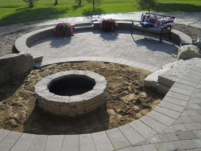 Outdoor living space with walkout basement addition ... on Walkout Basement Patio Designs id=91169