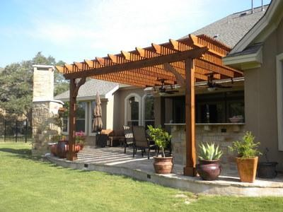 Outdoor living spaces - Traditional - Patio - Austin on Backyard Outdoor Living Spaces id=84386