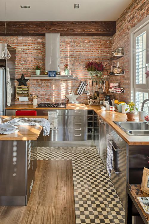 forrar los armarios de la cocina con vinilo efecto acero inoxidable