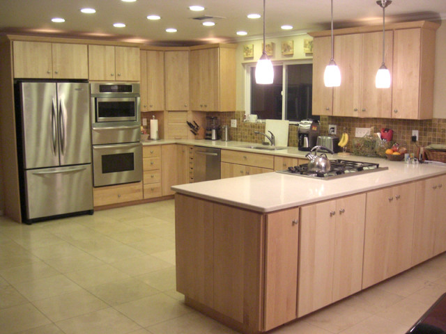 Modern Natural Maple - Modern - Kitchen - Sacramento - by ... on Natural Maple Cabinets  id=63530