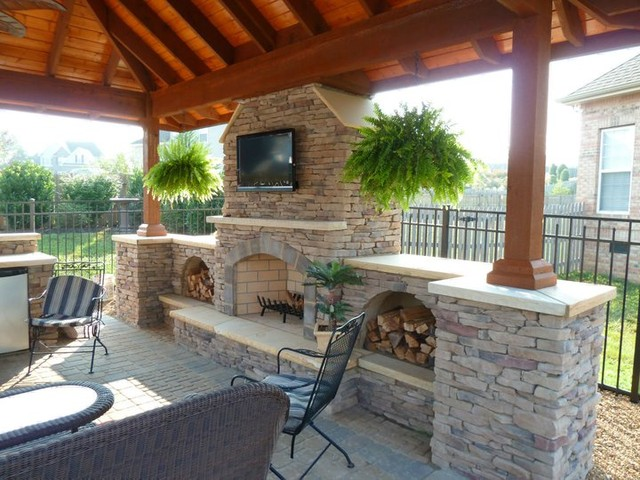 Outdoor Kitchen & Living - Traditional - Patio - Other ... on Houzz Backyard Patios  id=84526