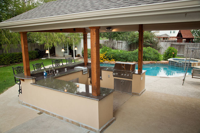 Outdoor Kitchen and Patio Cover in Katy, TX - Traditional ... on Outdoor Kitchen Patio id=73704