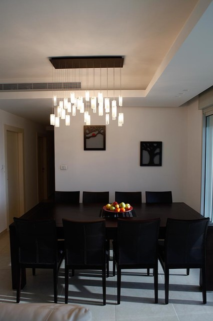 Elegant Chandelier Rain Drops Pendants Modern Dining Room