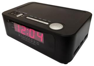 Alarm Clock Radio With 2 Usb Ports