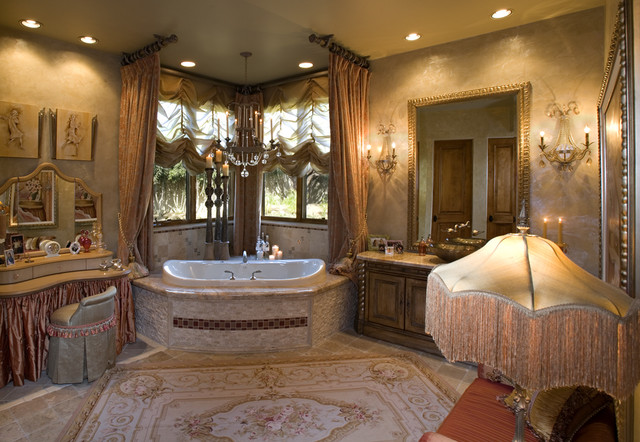 Venetian Eclectic French Master Bathroom Mediterranean