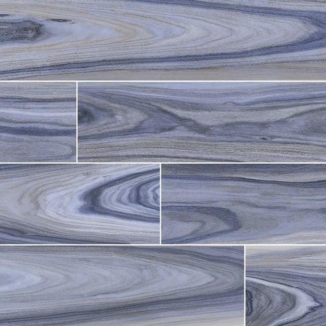 dellano exotic blue 8x48 polished wood look porcelain tile sample