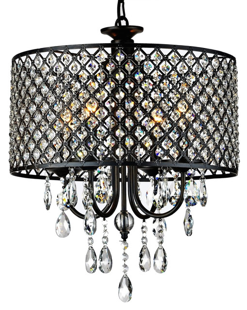 Rachelle 4 Light Brass Crystal Chandelier Antique Bronze Traditional Chandeliers