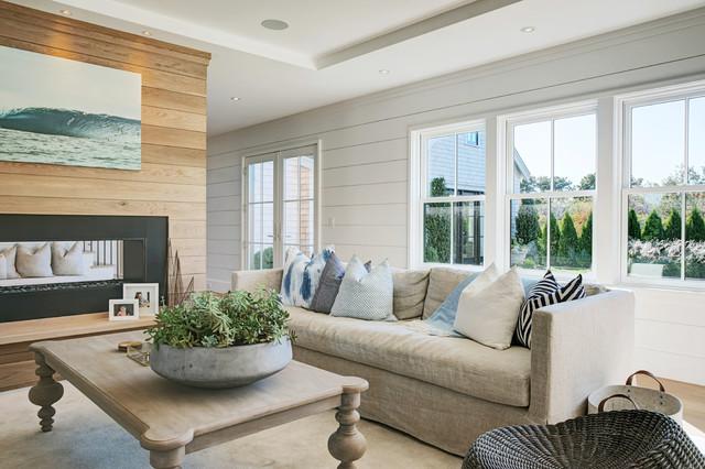 Beach Style Living Room coastal-living-room