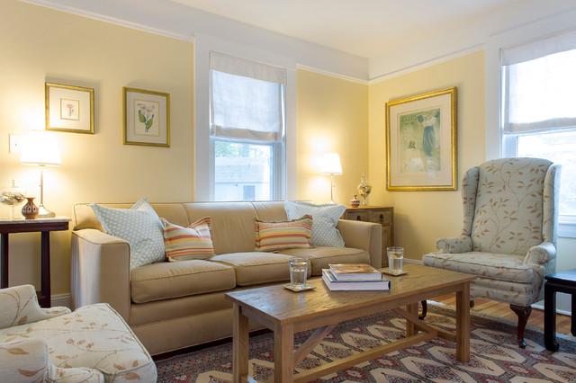 Cape Cod Beach House Remodel Beach Style Living Room