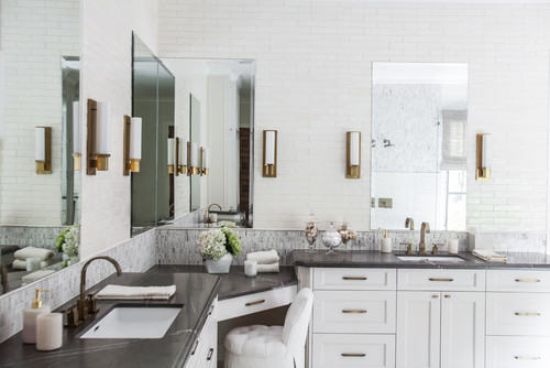 Bold, Organic Texture in Bellaire: Master Bath