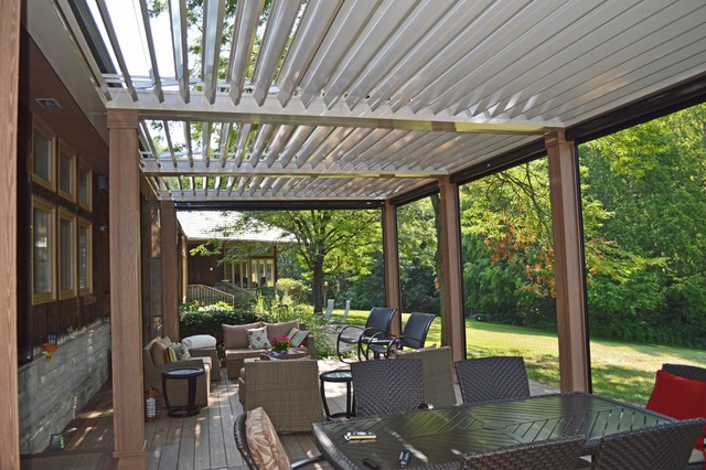 Arcadia Louvered Roofs for decks - Contemporary - Outdoor ... on Arcadia Backyard Designs id=68938