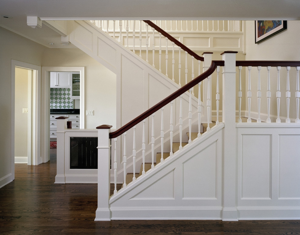 Conard Romano Architects Traditional Staircase Seattle By | Traditional Staircase Designs For Homes | Antique | Nice | Low Cost | Entryway | Wonderful