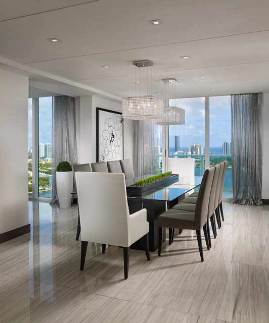 Penthouse - Contemporary - Dining Room - miami - by Guimar ...