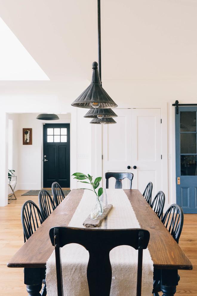 Modern Industrial Farmhouse - Farmhouse - Dining Room ... on Dining Room Curtains Farmhouse  id=13543