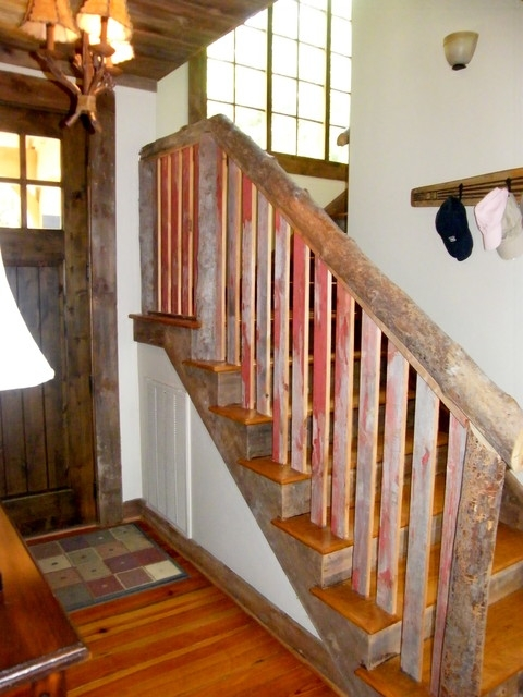 Reclaimed Barn Siding Interior Trim And Railing | Stair Banisters For Sale