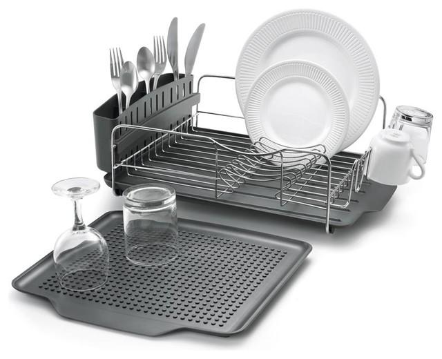polder dish rack with mat 4 piece set