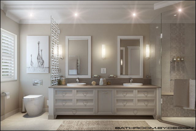 Light And Neutral Bathroom For Period Home.
