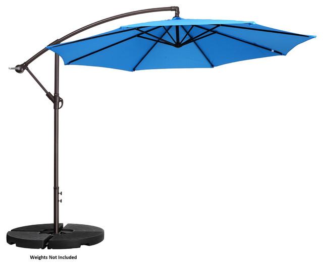 villacera 10 patio umbrella with 8 steel ribs aluminum pole vertical tilt blue