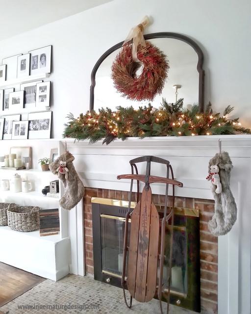 Dining Room - Winter Holiday Decor farmhouse-dining-room