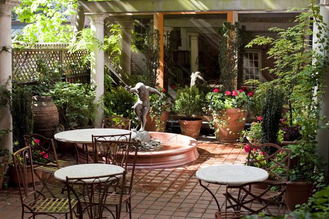 NYC Courtyard Garden Design: Mediterranean Patio, Bistro
