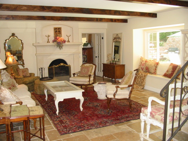 Custom Home Remodel-French Country Living Room