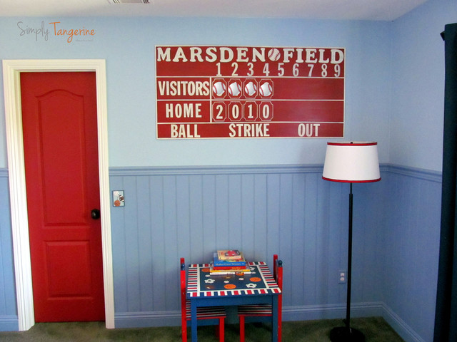 Kids Room Decor Sports Themed Childrens Rooms And Parties Vintage Boys